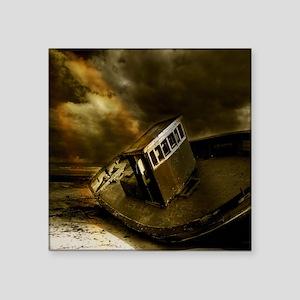 "Stormy Shipwreck Square Sticker 3"" x 3"""