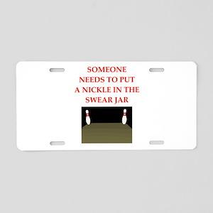bowling joke Aluminum License Plate