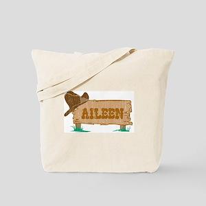 Aileen western Tote Bag