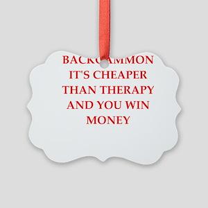 backgammon joke Ornament