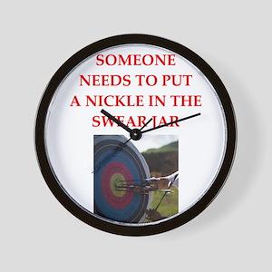 archery joke Wall Clock