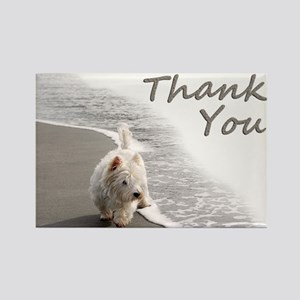 Westie Thank You Rectangle Magnet