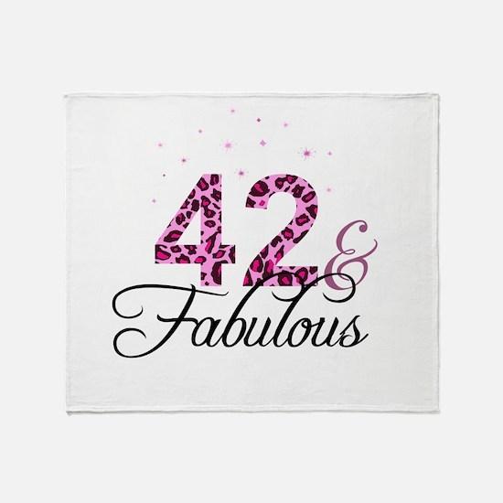 42 and Fabulous Throw Blanket