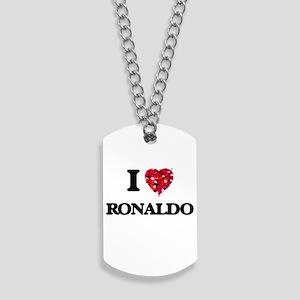 I Love Ronaldo Dog Tags