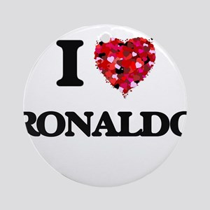 I Love Ronaldo Ornament (Round)