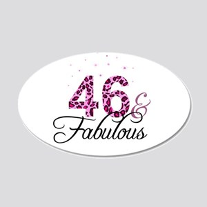 46 and Fabulous Wall Sticker