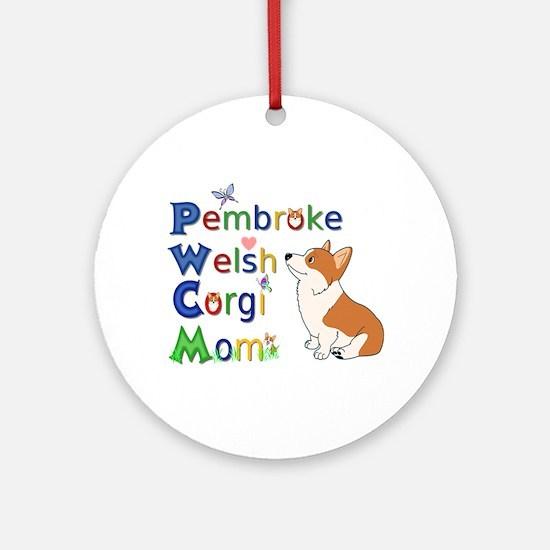Welsh Corgi Mom Ornament (Round)
