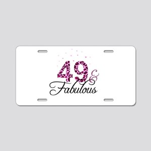 49 and Fabulous Aluminum License Plate