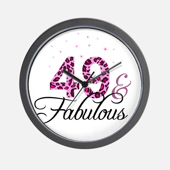 49 and Fabulous Wall Clock
