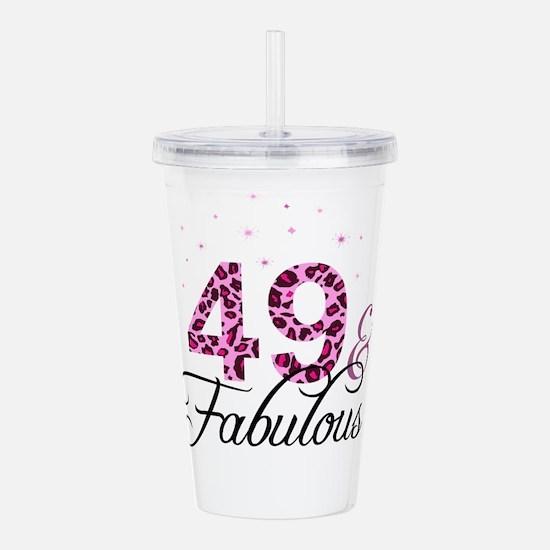 49 and Fabulous Acrylic Double-wall Tumbler