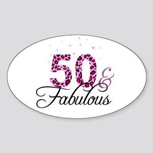 50 and Fabulous Sticker