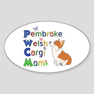Welsh Corgi Mom Sticker