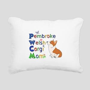 Welsh Corgi Mom Rectangular Canvas Pillow