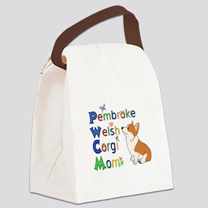 Welsh Corgi Mom Canvas Lunch Bag