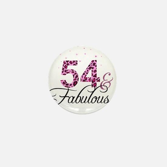 54 and Fabulous Mini Button