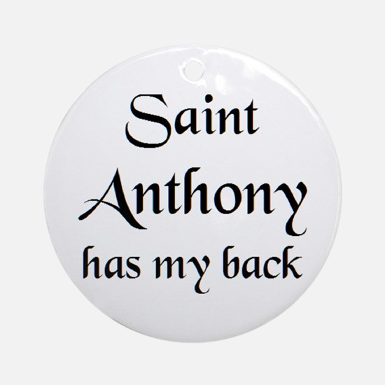 saint anthony Round Ornament