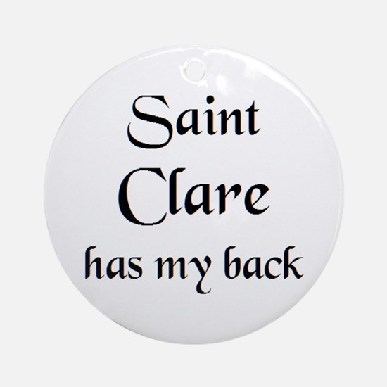 saint clare Round Ornament