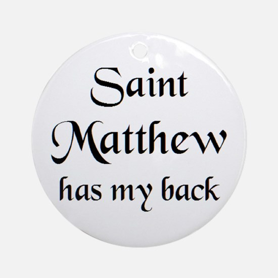 saint matthew Round Ornament