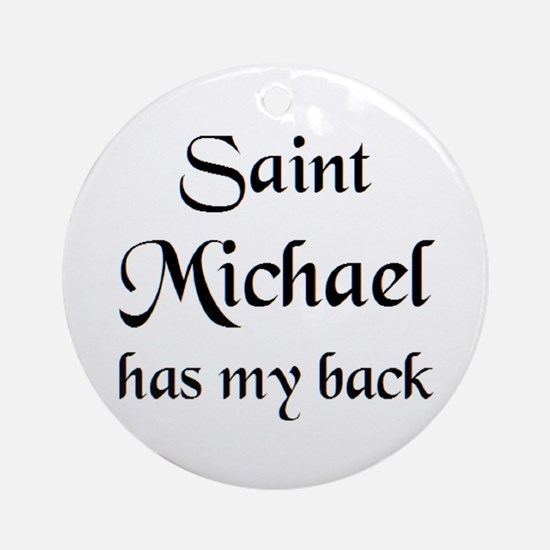 saint michael Round Ornament
