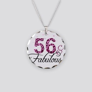 56 and Fabulous Necklace Circle Charm