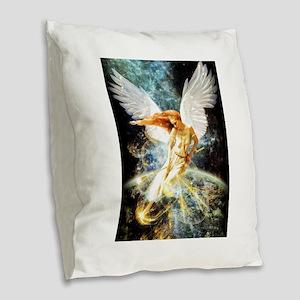 Guardian Angel Burlap Throw Pillow