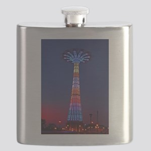 CONEY ISLAND'S WORLD FAMOUS PARACHUTE JUMP Flask