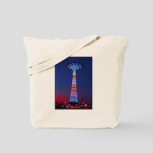 CONEY ISLAND'S WORLD FAMOUS PARACHUTE JUM Tote Bag