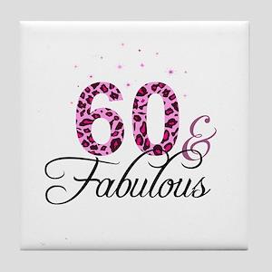 60 and Fabulous Tile Coaster