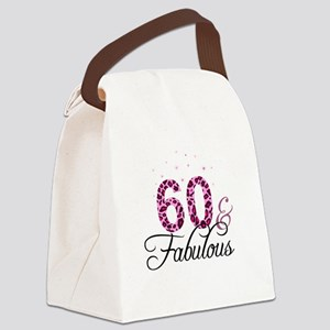 60 and Fabulous Canvas Lunch Bag