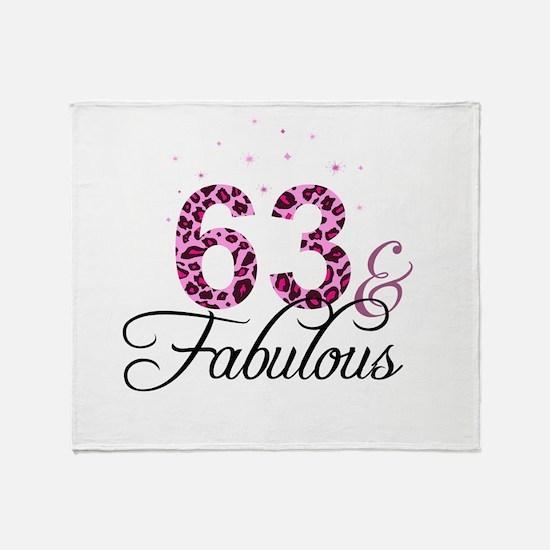 63 and Fabulous Throw Blanket