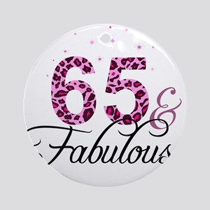 65 and Fabulous Ornament (Round)