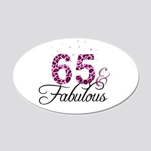 65 and Fabulous Wall Sticker