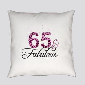 65 and Fabulous Everyday Pillow