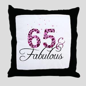 65 and Fabulous Throw Pillow