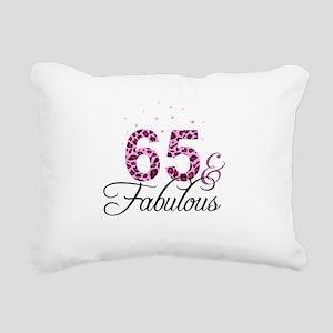 65 and Fabulous Rectangular Canvas Pillow