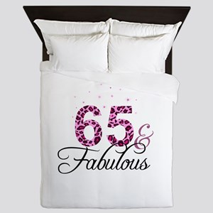 65 and Fabulous Queen Duvet