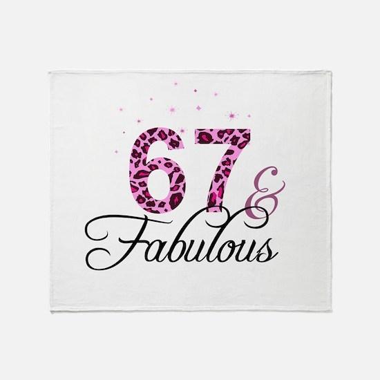 67 and Fabulous Throw Blanket