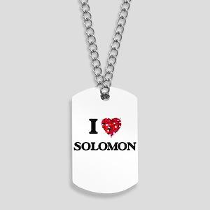 I Love Solomon Dog Tags