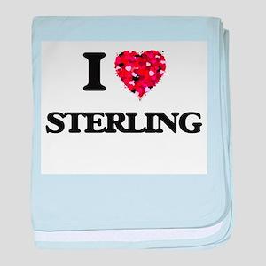 I Love Sterling baby blanket