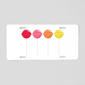 Lollipops Candy Aluminum License Plate
