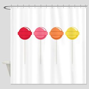 Lollipops Candy Shower Curtain