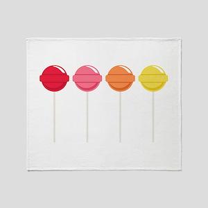 Lollipops Candy Throw Blanket