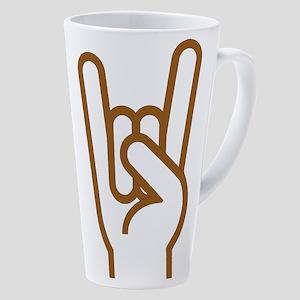 Metal Horns 17 Oz Latte Mug