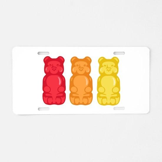 Gummy Bears Aluminum License Plate