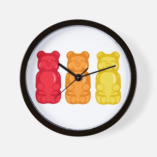 Gummy Bears Wall Clock