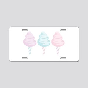 Cotton Candy Aluminum License Plate