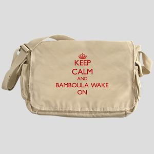 Keep Calm and Bamboula Wake ON Messenger Bag