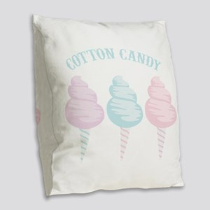Cotton Candy Burlap Throw Pillow