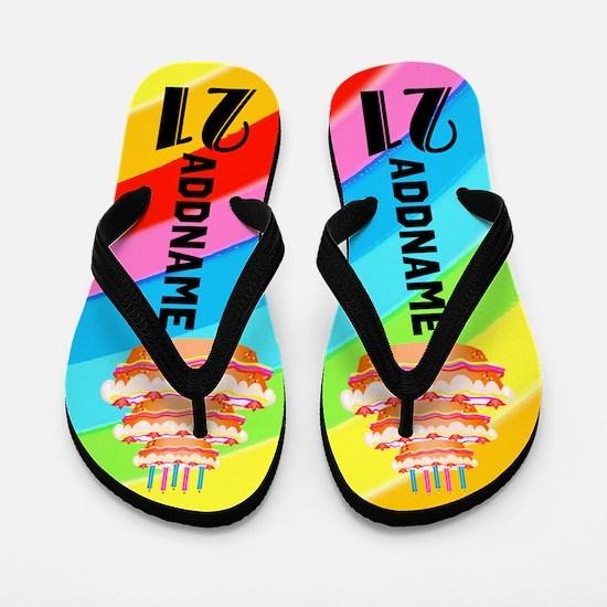 21st Celebration Flip Flops