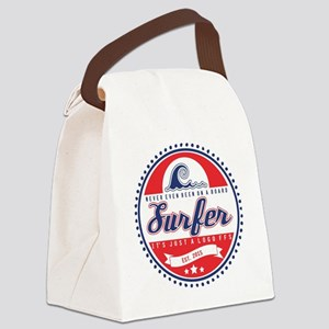 Vintage Surfer Logo Canvas Lunch Bag